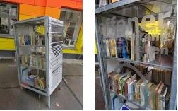 Kirjojen kierrätyskaappi