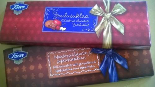 Joulusuklaa & Maitosuklaata ja piparkakkua